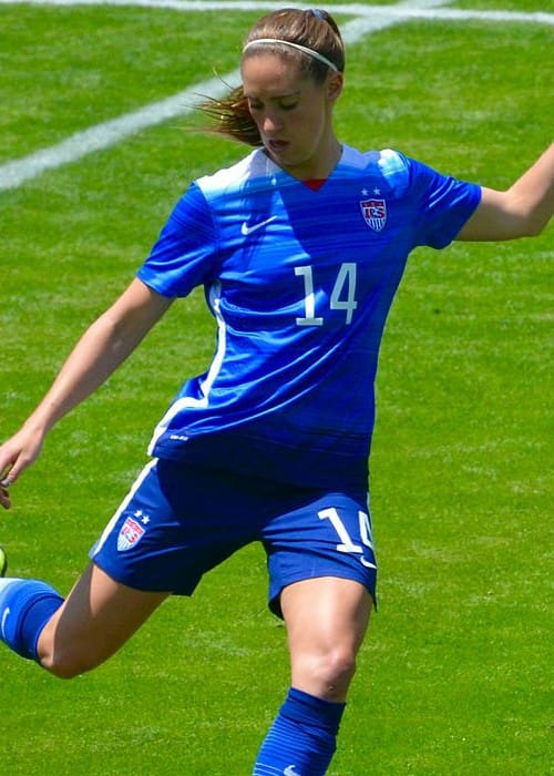 Morgan Brian playing for the US Women's National team in May 2015