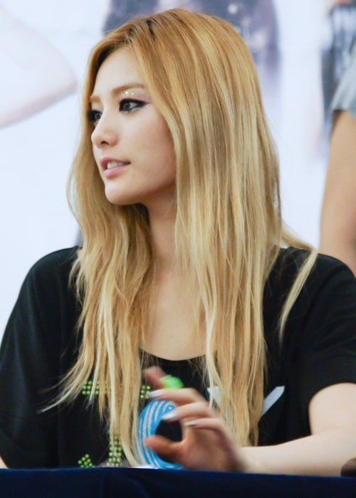Nana (Im Jin-ah) as seen in a picture taken on July 1, 2012 at the Yeongdeungpo Times Square Hot Track Fan Signing Event