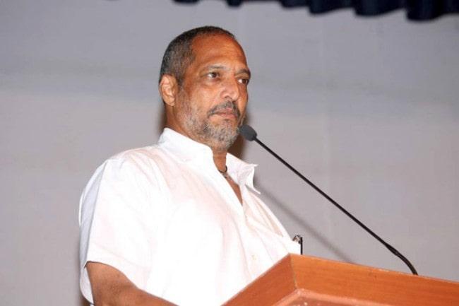 Nana Patekar snapped at a press meet in July 2012