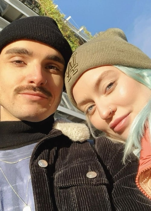 Naomi Jon as seen in a selfie taken with her close friend Vincent in December 2019