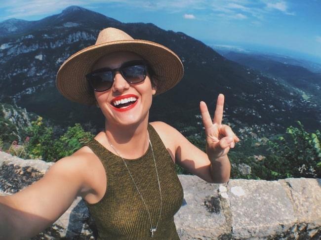 Natasha Negovanlis as seen while taking a selfie in June 2018