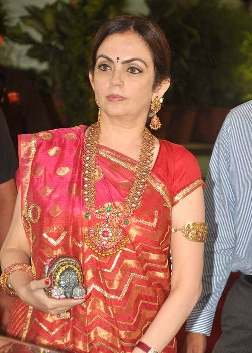 Nita Ambani at Esha Deol's wedding in July 2012