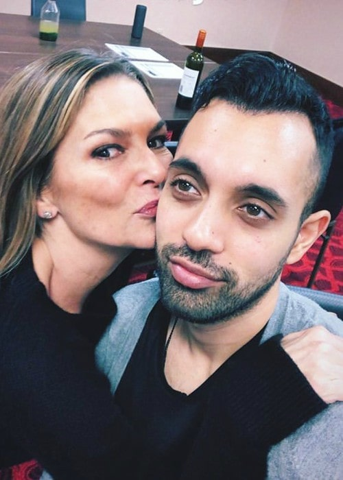 Paige Turco and Sachin Sahel in a selfie in January 2019