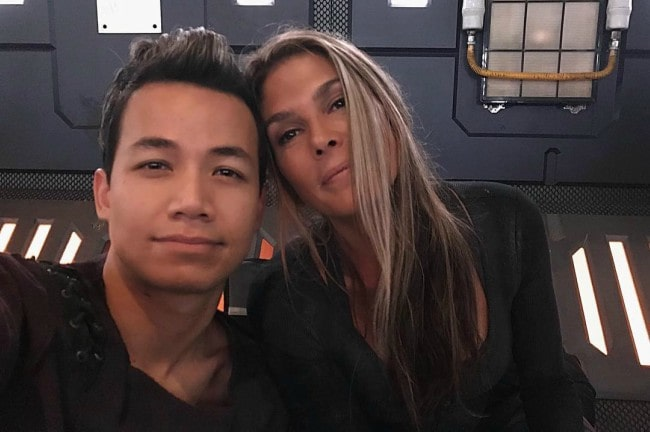 Paige Turco and Shannon Kook in a selfie in September 2018