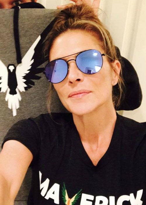 Paige Turco in a selfie as seen in August 2017