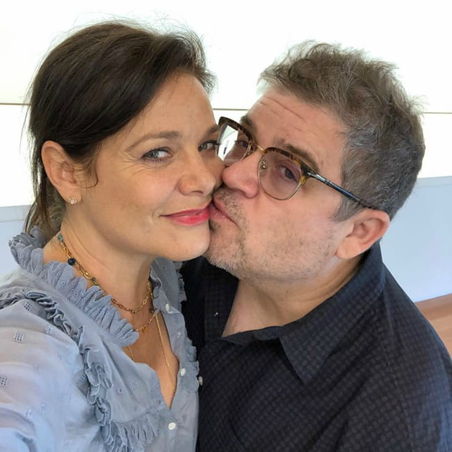 Patton Oswalt and Meredith Dawn Salenger in a selfie as seen in May 2019
