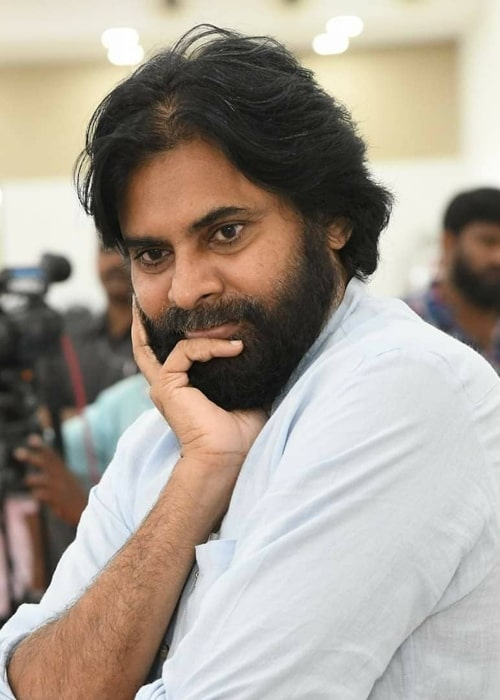 Pawan Kalyan as seen in a picture taken during an interaction with the Durgi Mandal residents of Dharamavaram in January 2020