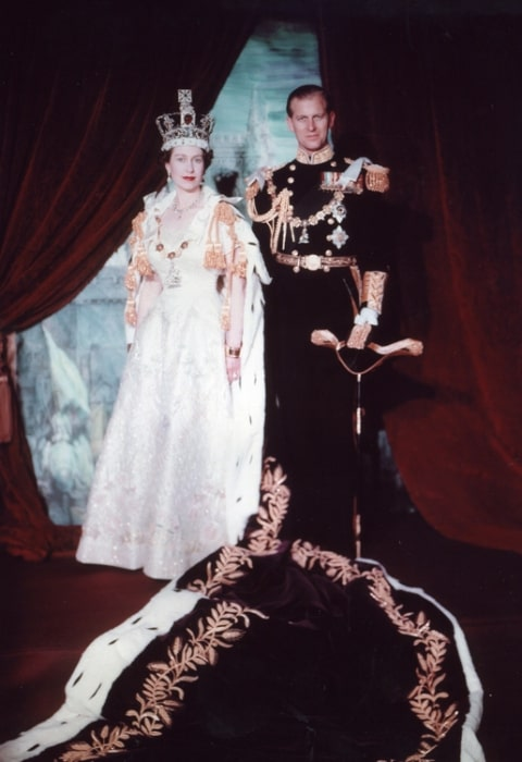 Prince Philip, Duke of Edinburgh as seen in the coronation portrait in June 1953 in London, England, United Kingdom