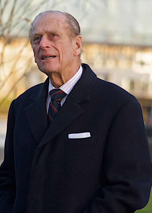 Prince Philip, Duke of Edinburgh as seen while looking at City Hall in London, England, United Kingdom in November 2008