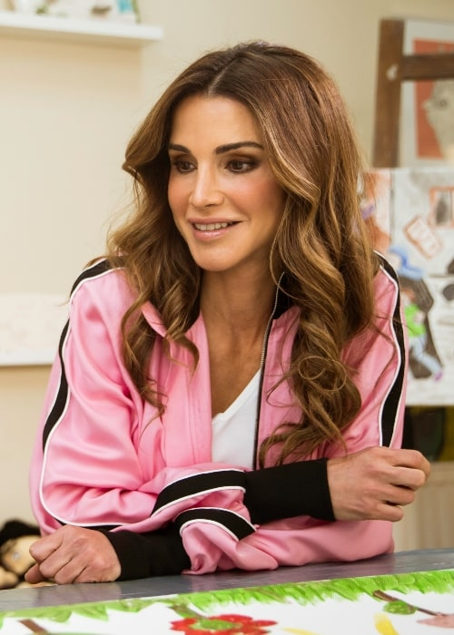 Queen Rania of Jordan as seen in May 2018
