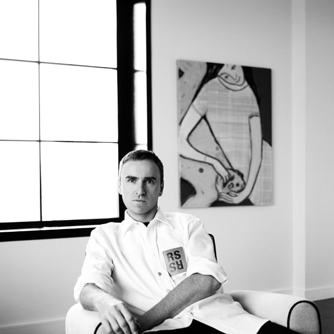 Raf Simons as seen while posing for the camera in May 2019