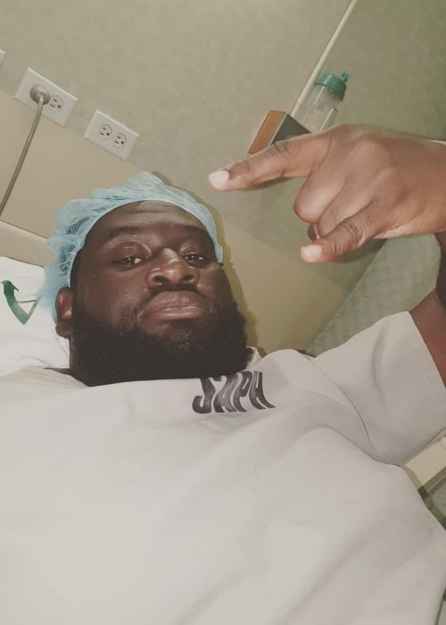 Rahkeem Cornwall as seen in a picture taken while he was admitted into hospital for a medical emergency in Trinidad And Tobago in December 2019