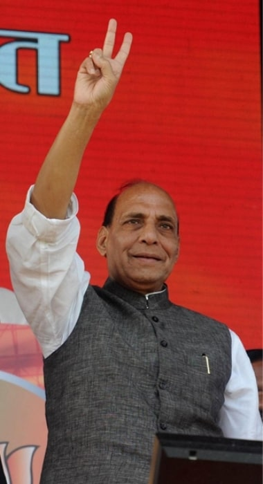 Rajnath Singh as seen at Hunkar Rally in Patna, Bihar, India in October 2013