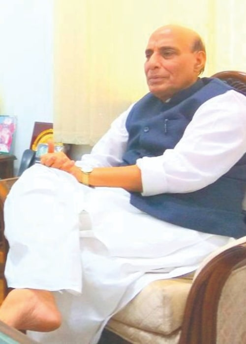 Rajnath Singh as seen in October 2017