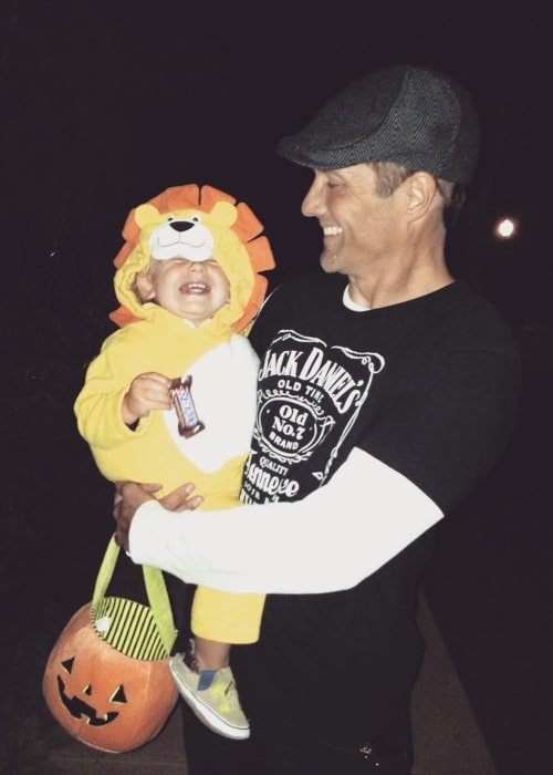 Rob Estes as seen in a picture taken in Santa Monica, California with his youngest child taken in the past on Halloween