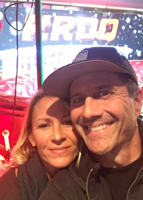 Rob Estes as seen in a selfie taken with his wife Erin Bolte at KROQ-FM in December 2016