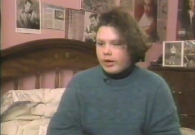 Robin Christensen-Roussimoff during an interview in the early 90s