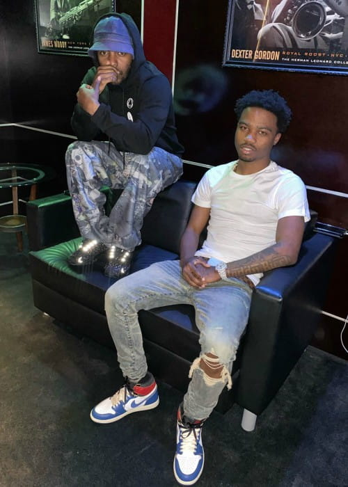 Roddy Ricch (Right) and Kendrick Lamar as seen in December 2019