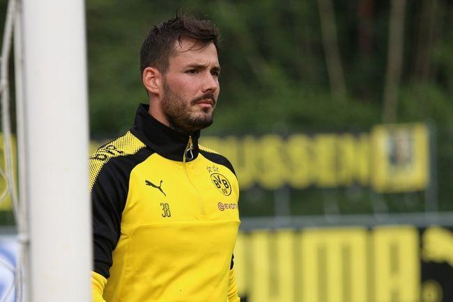 Roman Bürki at the Borussia Dortmund training camp in Bad Ragaz in 2017