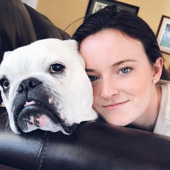 Rose Lavelle with her dog Wilma as seen in March 2018