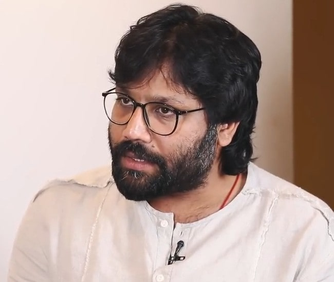 Sandeep Reddy Vanga during an interview as seen in July 2019