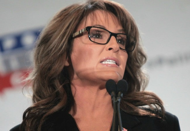 Sarah Palin speaking at the 2016 Politicon at the Pasadena Convention Center