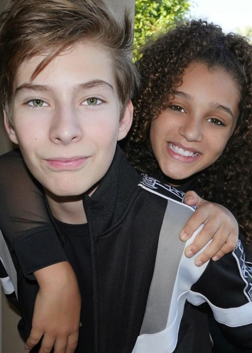Sawyer Sharbino as seen in a picture taken with dancer Corinne Joy in October 2019