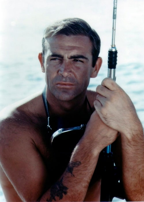 Sean Connery as seen in a picture taken in his younger days.
