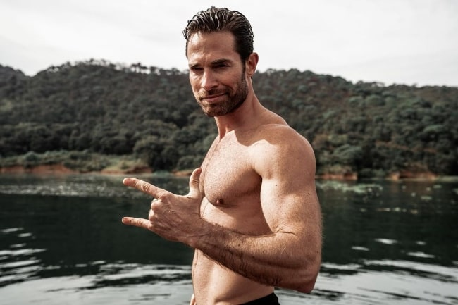 Sebastian Rulli as seen while posing shirtless at Valle de Bravo, Mexico in January 2020