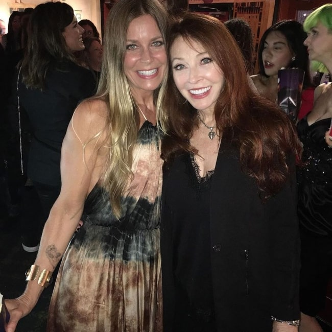 Sheri Moon Zombie (Left) as seen while posing for a picture alongside Cassandra Peterson in September 2019