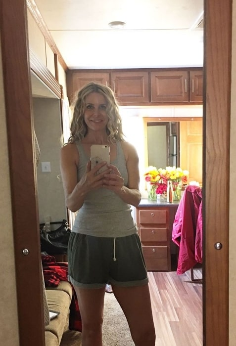 Sheri Moon Zombie as seen while clicking a mirror selfie in August 2019