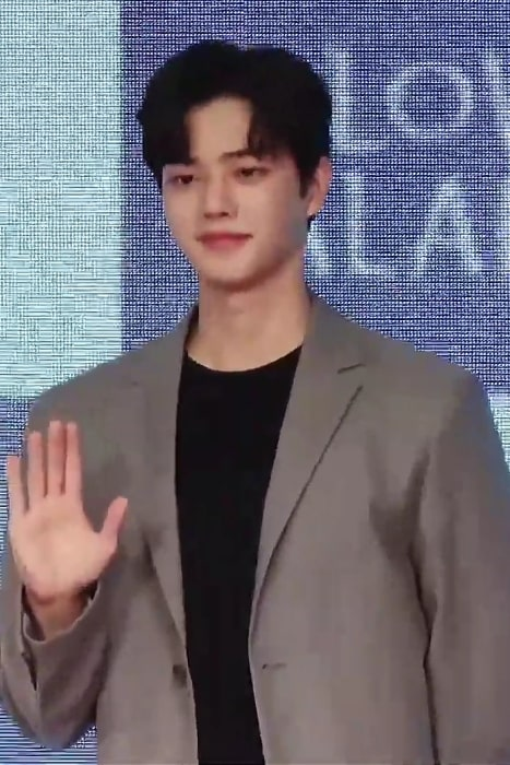 Song Kang as seen in a picture taken at 'Love Alarm' press conference on August 20, 2019