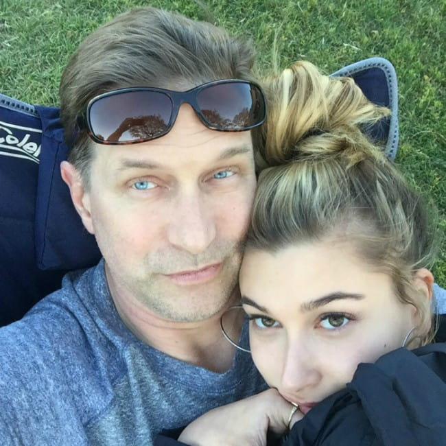 Stephen Baldwin and Hailey Bieber in a selfie in April 2016