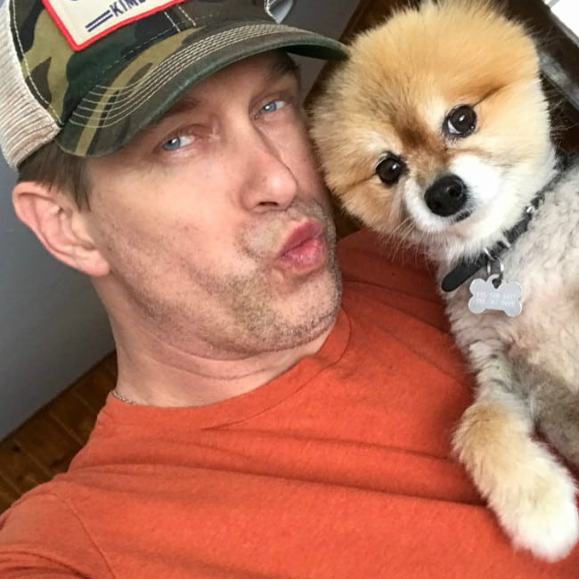 Stephen Baldwin in a selfie with his dog as seen in March 2017