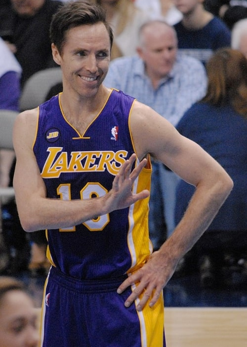 Steve Nash as seen in a picture taken on February 24, 2013 during a match while he played for the Los Angeles Lakers