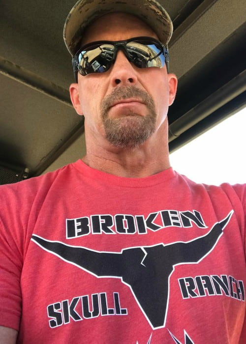 Stone Cold Steve Austin in a selfie in August 2017