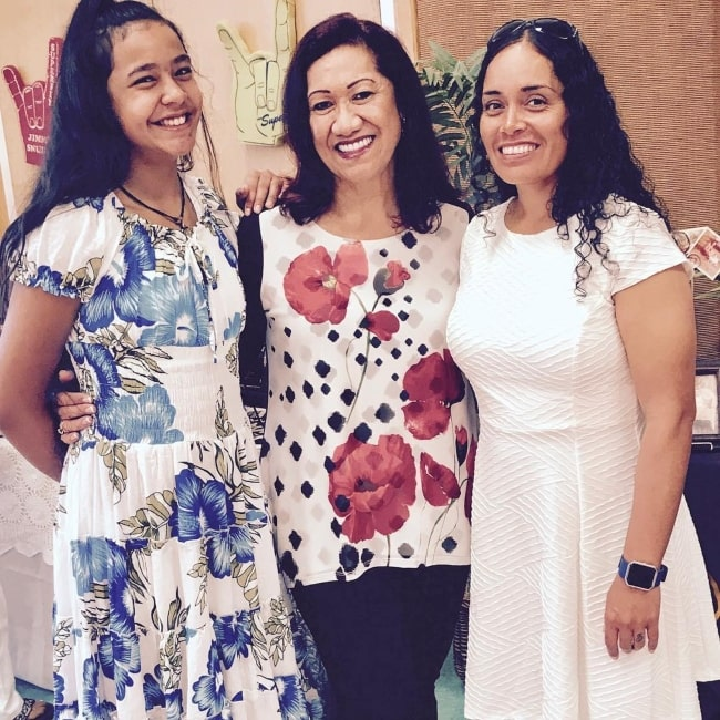 Tamina Snuka as seen in a picture taken with her daughter Ata Snuka and aunt Ata Johnson in the past