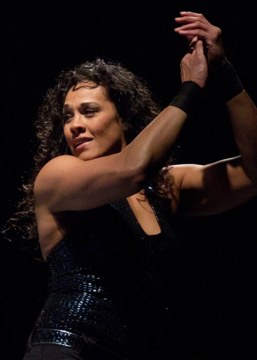 Tamina reving up the crowd during a WWE SmackDown live event in Montgomery, Alabama on January 7, 2012