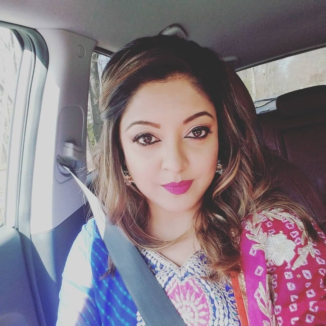 Tanushree Dutta as seen in a picture taken in April 2018