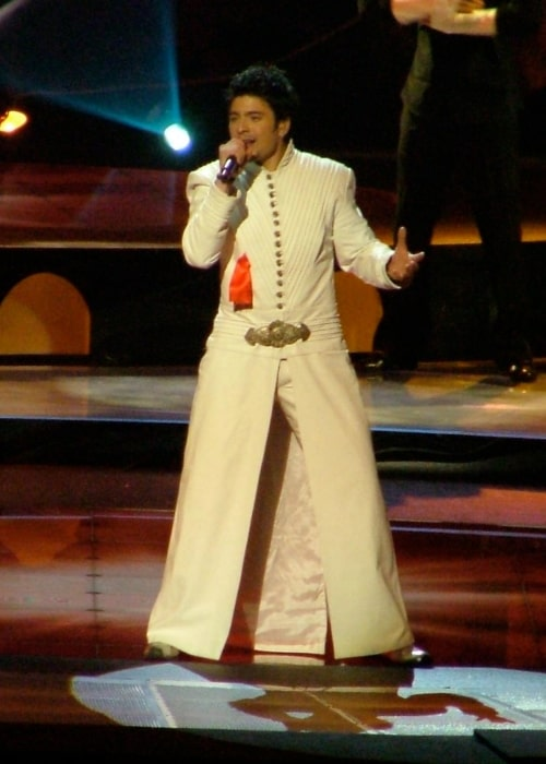 Toše Proeski as seen in a picture taken at the Eurovision Song Contest in May 14, 2004
