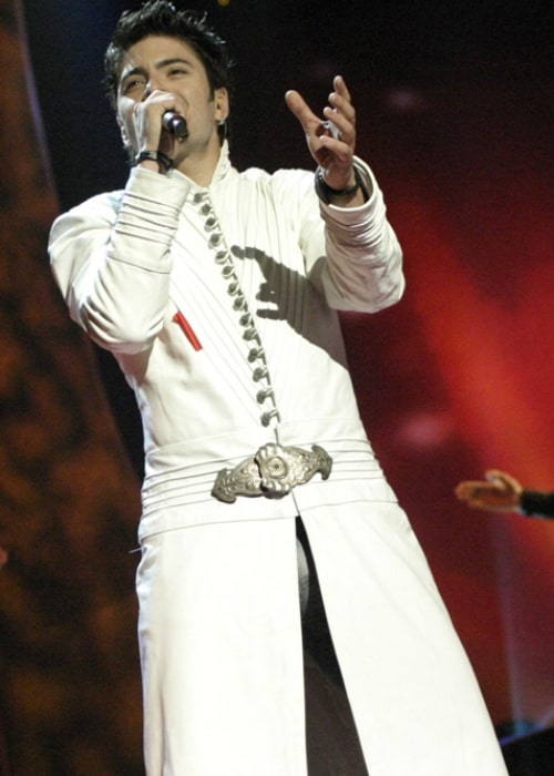 Toše Proeski as seen in a picture taken during a rehearsal in Istanbul in 2004