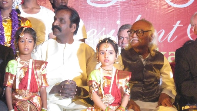 Vairamuthu and Jayakanthan as seen in 2012