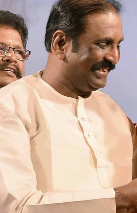 Vairamuthu at the audio launch of Lingaa as seen in 2014