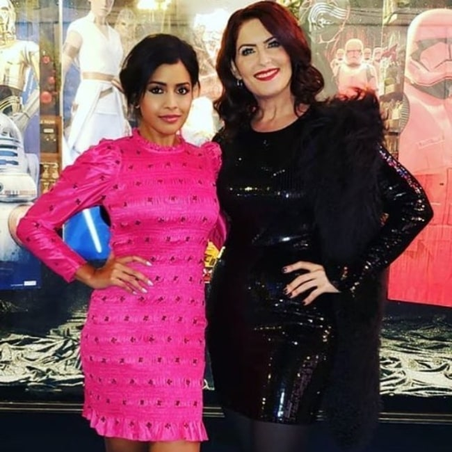 Vanessa Marshall (Right) as seen while posing for a picture along with actress Tiya Sircar at the world premiere of 'Star Wars The Rise of Skywalker'