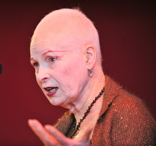 Vivienne Westwood as seen while in a conversation with Shami Chakrabarti in March 2014