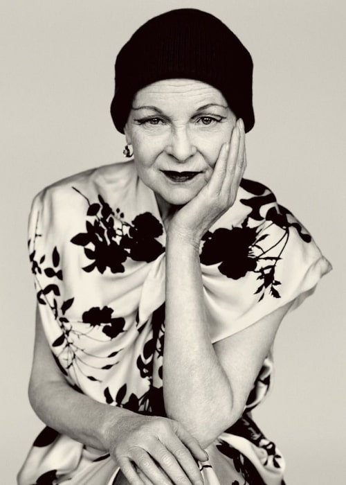 Vivienne Westwood as seen while posing for the camera