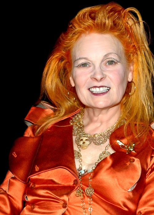 Vivienne Westwood as seen while smiling in a picture taken in April 2008