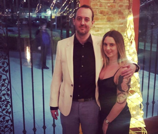 Wolfgang Gartner with his wife as seen in December 2018