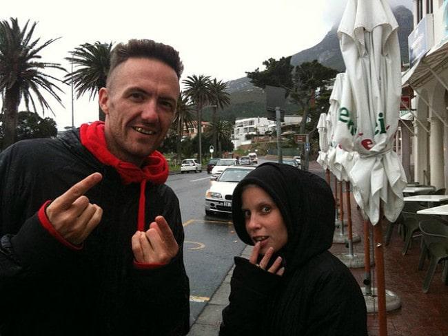 Yolandi Visser and Die Antwoord Ninja as seen in December 2012