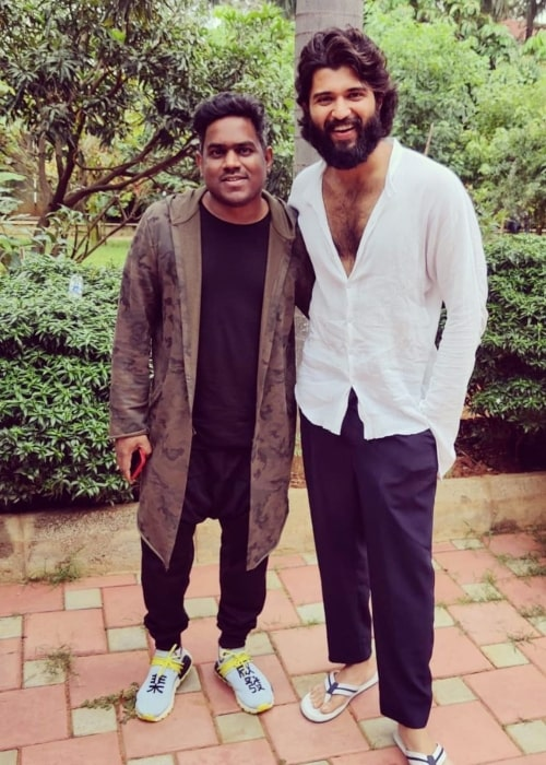 Yuvan Shankar Raja along with actor Vijay Devarkonda as seen in 2019